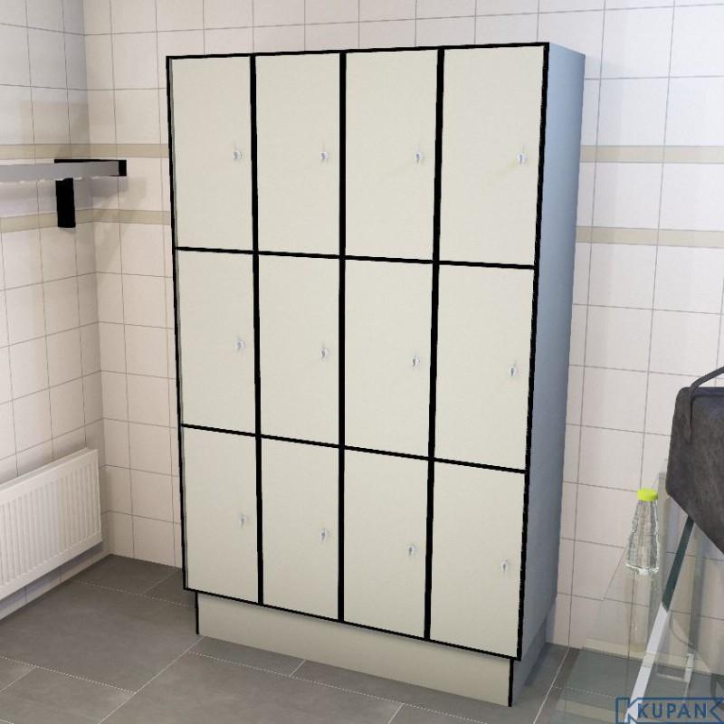 3 tl 300 12 doors solid grade laminate lockers iab shop for 12 door lockers