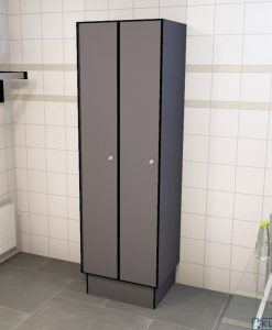 0075 1 TL 400 lockers 2 door solid grade laminate