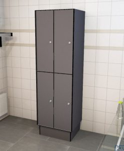 0075 2 TL 300 lockers 4 door solid grade laminate