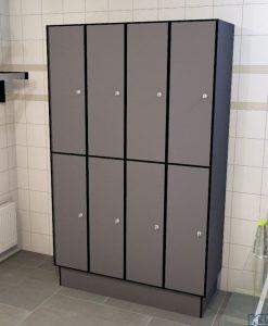 0075 2 TL 300 lockers 8 door solid grade laminate