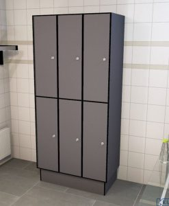 0075 2 TL 400 Lockers 6 Door Solid Grade Laminate