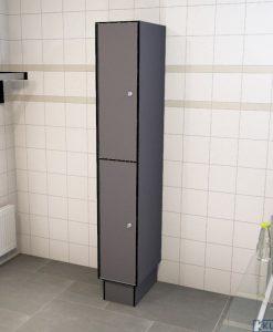 0075 2 TL 400 lockers 2 door solid grade laminate