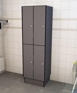 0075 2 TL 400 lockers 4 door solid grade laminate