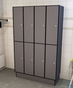 0075 2 TL 400 lockers 8 door solid grade laminate
