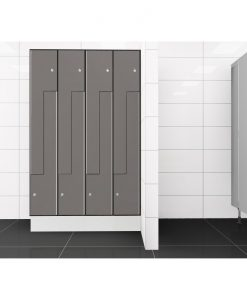 0075 2 TLZ 400 lockers 8 door Solid Grade Laminate