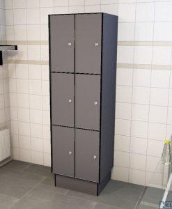 0075 3 TL 300 lockers 6 doors Solid Grade Laminate