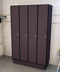 0077 1 TL 300 lockers 4 door solid grade laminate