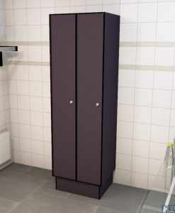 0077 1 TL 400 lockers 2 door solid grade laminatev