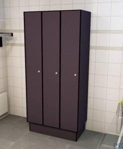 0077 1 TL 400 lockers 3 door solid grade laminate