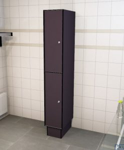 0077 2 TL 300 lockers 2 door solid grade laminate