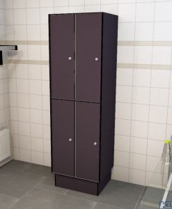 0077 2 TL 300 lockers 4 door solid grade laminate