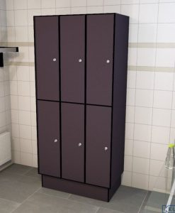 0077 2 TL 400 Lockers 6 Door Solid Grade Laminate
