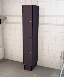 0077 2 TL 400 lockers 2 door solid grade laminate