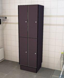 0077 2 TL 400 lockers 4 door solid grade laminate