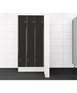 0077 2 TLZ 300 lockers 6 door Solid Grade Laminate