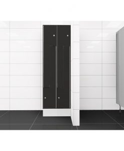 0077 2 TLZ 400 lockers 4 door Solid Grade Laminate