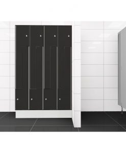 0077 2 TLZ 400 lockers 8 door Solid Grade Laminate