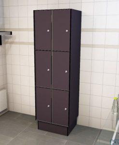 0077 3 TL 300 lockers 6 doors Solid Grade Laminate