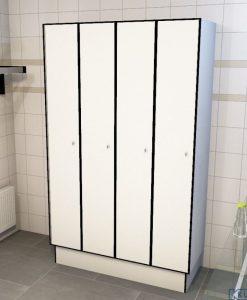 0085 1 TL 400 lockers 4 door solid grade laminate