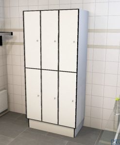 0085 2 TL 400 Lockers 6 Door Solid Grade Laminate