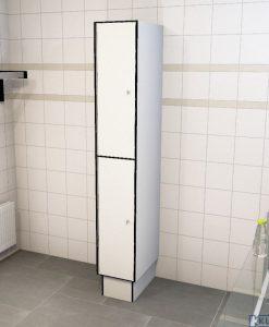 0085 2 TL 400 lockers 2 door solid grade laminate