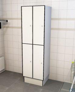 0085 2 TL 400 lockers 4 door solid grade laminate
