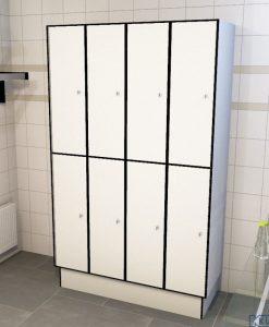 0085 2 TL 400 lockers 8 door solid grade laminate