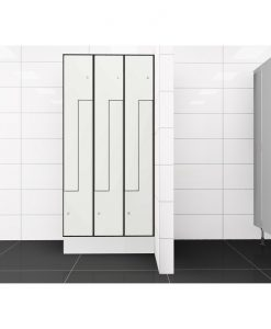 0085 2 TLZ 300 lockers 6 door Solid Grade Laminate