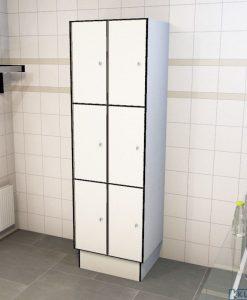 0085 3 TL 300 lockers 6 doors Solid Grade Laminate