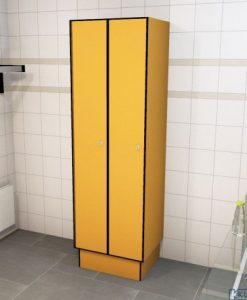 0095 1 TL 400 lockers 2 door solid grade laminate