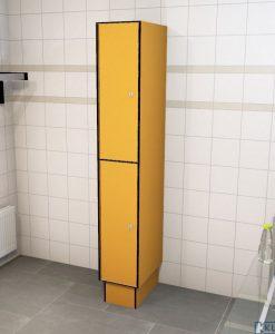 0095 2 TL 300 lockers 2 door solid grade laminate