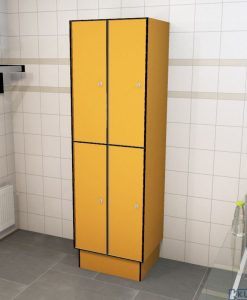 0095 2 TL 300 lockers 4 door solid grade laminate