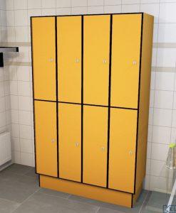 0095 2 TL 300 lockers 8 door solid grade laminate