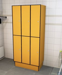 0095 2 TL 400 Lockers 6 Door Solid Grade Laminate