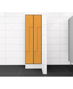0095 2 TLZ 300 lockers 4 door Solid Grade Laminate