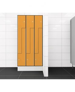 0095 2 TLZ 400 lockers 6 door Solid Grade Laminate