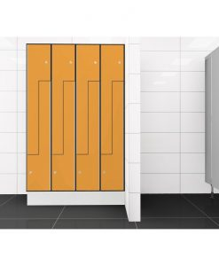 0095 2 TLZ 400 lockers 8 door Solid Grade Laminate