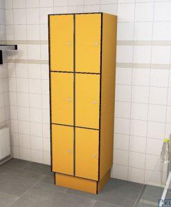 0095 3 TL 300 lockers 6 doors Solid Grade Laminate