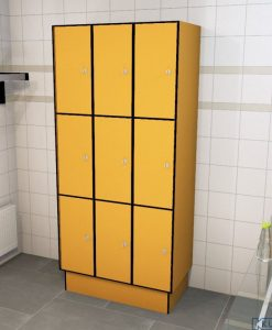 0095 3 TL 300 lockers 9 doors Solid Grade Laminate