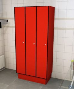 0210 1 TL 300 lockers 3 door solid grade laminate