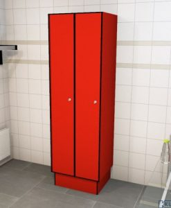 0210 1 TL 400 lockers 2 door solid grade laminate