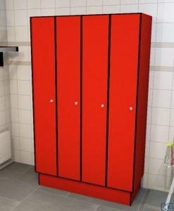 0210 1 TL 400 lockers 4 door solid grade laminate
