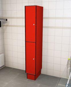0210 2 TL 300 lockers 2 door solid grade laminate