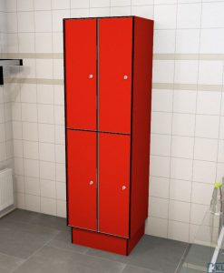 0210 2 TL 300 lockers 4 door solid grade laminate
