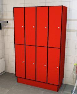 0210 2 TL 300 lockers 8 door solid grade laminate