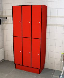 0210 2 TL 400 Lockers 6 Door Solid Grade Laminate