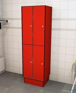 0210 2 TL 400 lockers 4 door solid grade laminate
