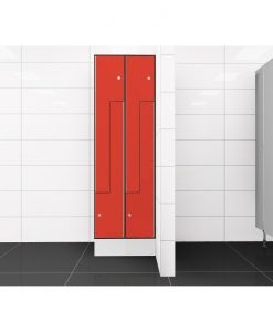 0210 2 TLZ 300 lockers 4 door Solid Grade Laminate