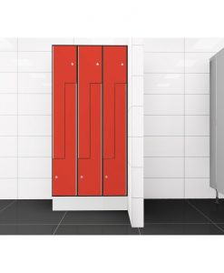 0210 2 TLZ 400 lockers 6 door Solid Grade Laminate
