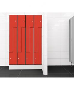 0210 2 TLZ 400 lockers 8 door Solid Grade Laminate